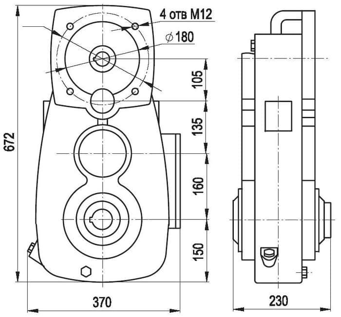 размеры редуктора А-400