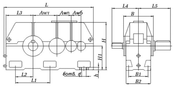 размеры редуктора Ц3У