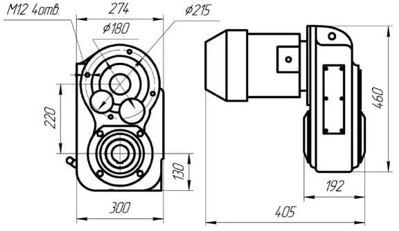 размеры редуктора РВЦ-220