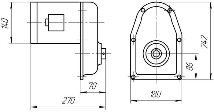размеры редуктора РВЦ-80