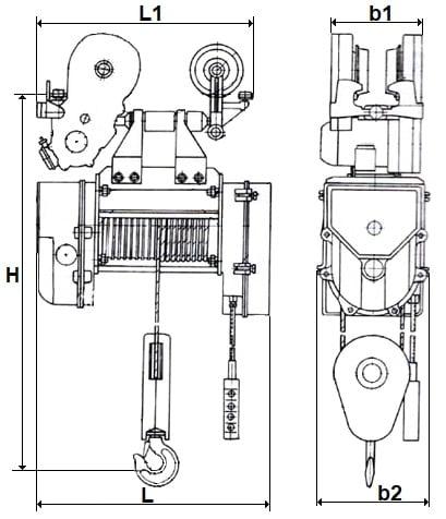 таль электрическая г/п 2000 кг